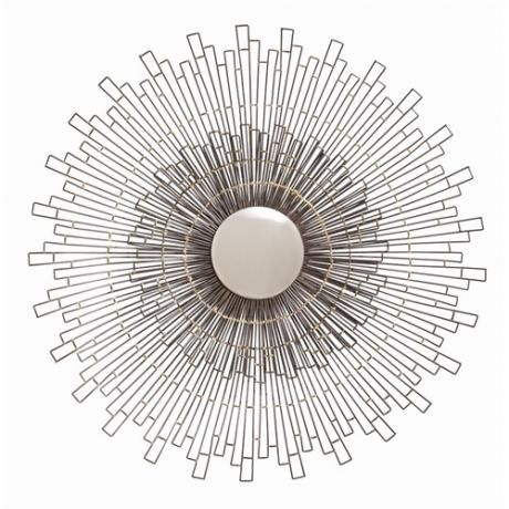 The zuma iron and brass convex mirror by arteriors home for Convex mirror for home