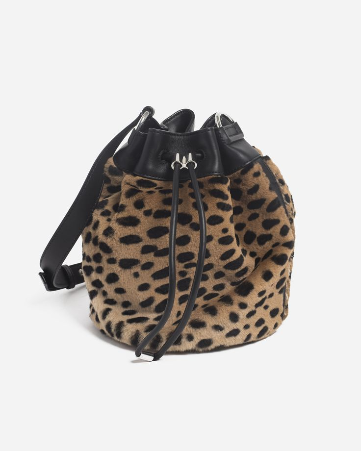 Alexander Wang Alpha Bucket Cheetah
