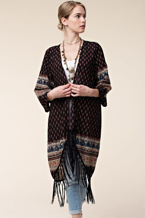 Boho Summer to Fall Kimono