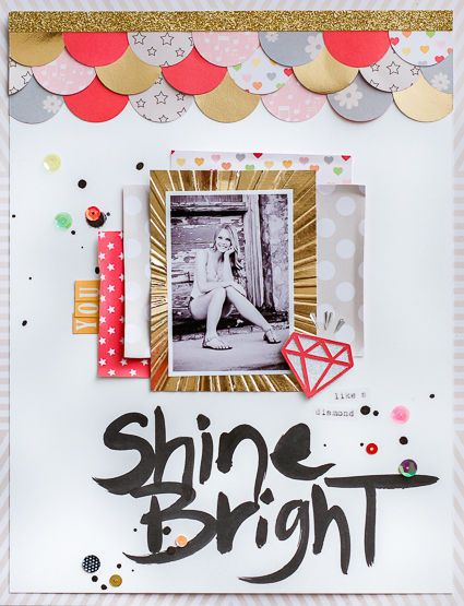 Shine Bright Like A Diamond by dpayne at @Studio_Calico Love the layered circles border. :)