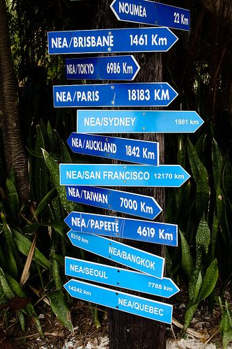 Signs in Noumea, New Caledonia