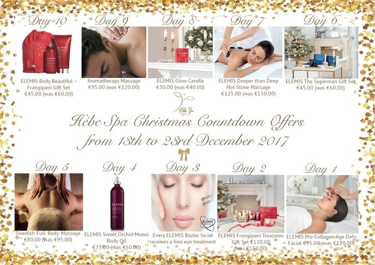 Hébe #Spa 's #Christmas #countdown begins on #December 13th!  #elemis #gifts #giftsets #massages #frangipani #aromatherapy #candles #hotstone #biotec #facial #procollagen #treatments #luxury #resort #pissouribay #cyprus