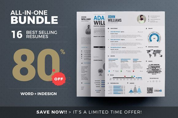 Best Selling Resumes - All-in-One by The Resume Creator on /creativemarket/