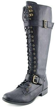 Rocket Dog Beany Wide Calf Women W Round Toe Synthetic Knee High Boot.