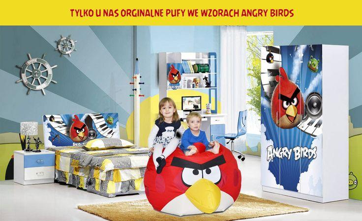 Pufy Angry Birds są niezastąpionym towarzyszem dzieci i dorosłych. Wybierz swoją ulubioną postać i rozkoszuj się pufą w jej kształcie. Duży rozmiar sprawia iż można na nim swobodnie, wygodnie odpoczywać w każdej pozycji. A wy macie już swoją ulubioną? #pufy #fotelesako #meblesako #taniapufa #leżak #walec #okrągłapufa #meblerelaksacyjne #fotelemłodzieżowe