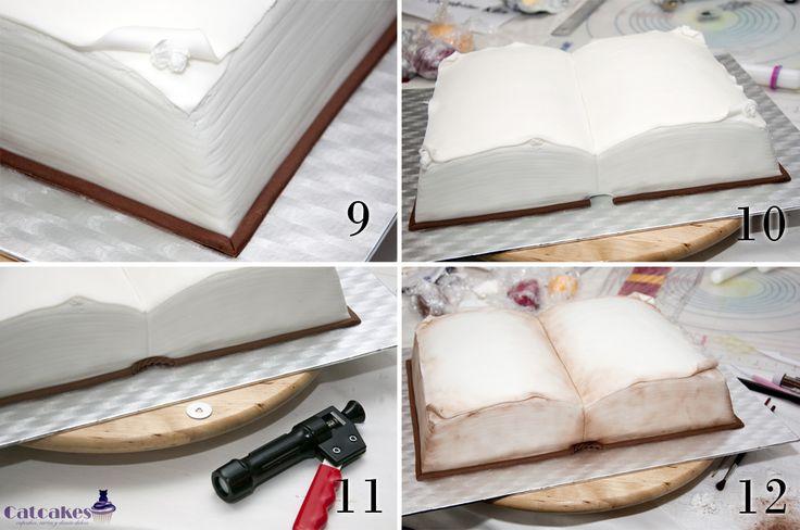 Catcakes - Repostería Creativa: Tutorial de tarta con forma de libro