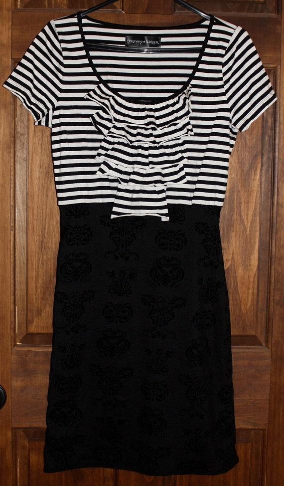 Harmony Walker Black and White Striped Tshirt by HarmonyWalker, $42.50
