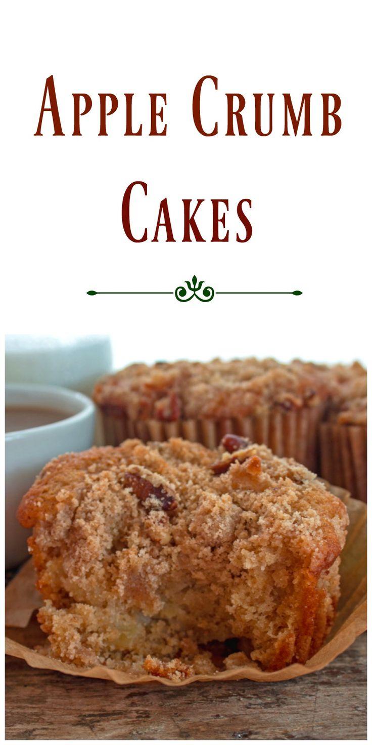 Apple Crumb Cakes via @https://www.pinterest.com/BunnysWarmOven/bunnys-warm-oven/