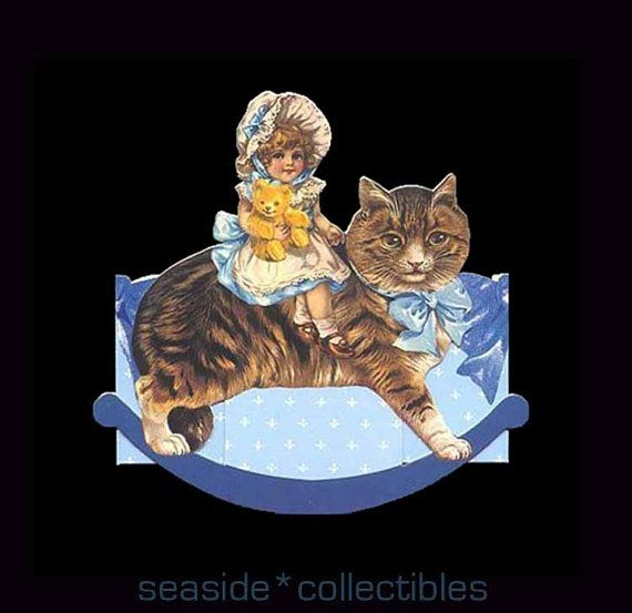Cat Rocking Horse Gift Box GIFTED LINE by seasidecollectibles