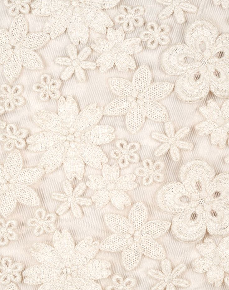 Ici Maintenant - allover embroidery offwhite Swiss made
