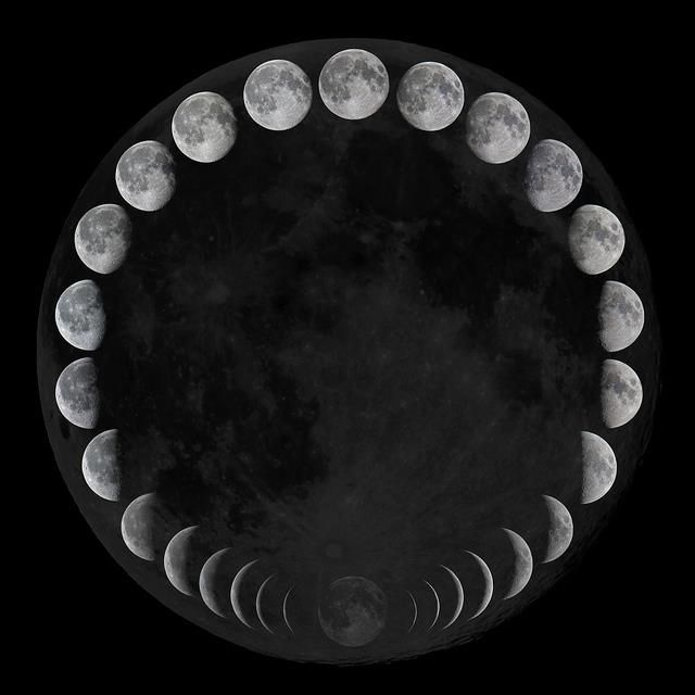 Moon Phases, perfect it shows the cyclecure movement of the moon