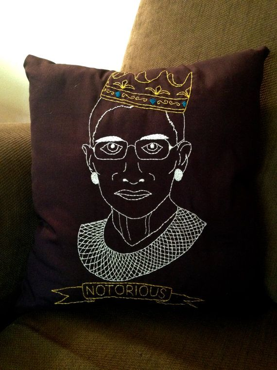 What better way is there to show you unending love for the great Ruth Bader Ginsburg than to to have her embroidered face adorning your bedspread? Waking up each morning next to her steely stare will remind you that you can accomplish great things, control your own uterus, and if you really try hard enough, have a musical made about you and Antonin Scalia. - This product is made to order. Please allow 2-3 weeks to receive it in the mail after purchasing.