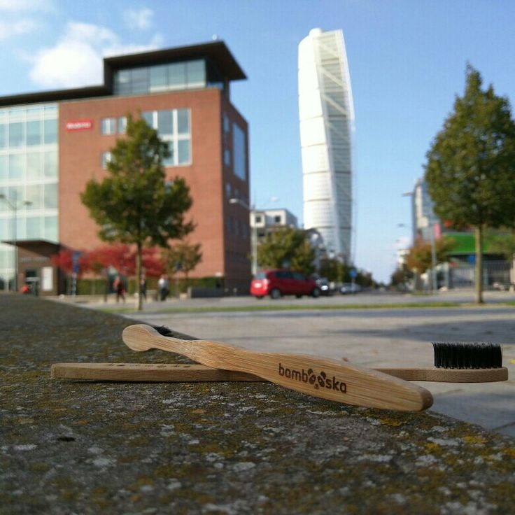 Bamboo toothbrush travelled to Malmo, Sweden. 💚🌱😊