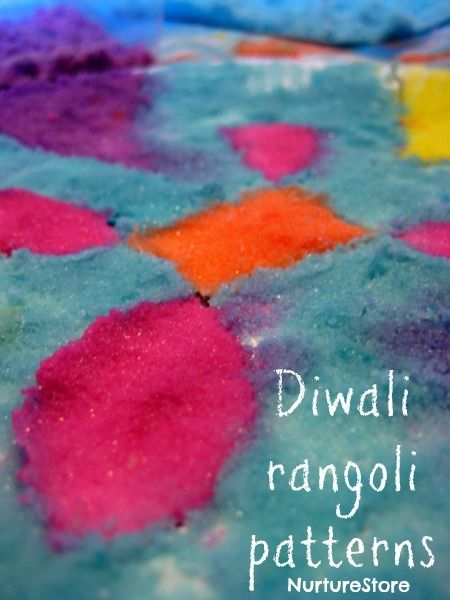 Gorgeous rangoli patterns for Diwali, made with DIY colored salt