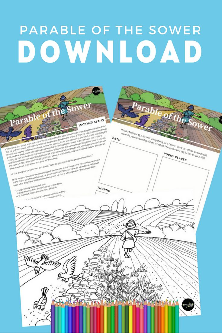 Download your FREE Parable of the Sower colouring and activity sheet here: https://growingfaith.com.au/parenting/parable-of-the-sower#utm_sguid=155799,4b87baca-d8ca-19db-bb9e-847790cd86ae