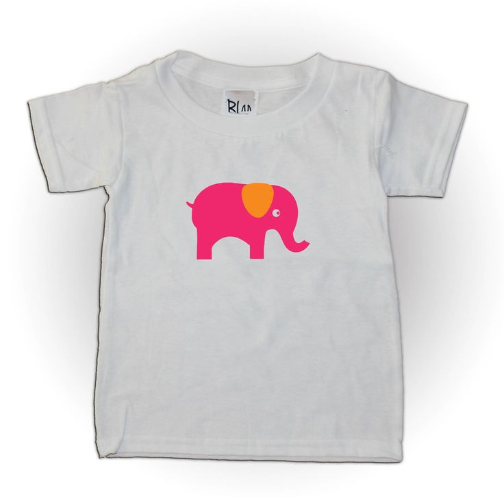 Elephant Child/Toddler T-shirt- can be personalised with your child's name. So cute.