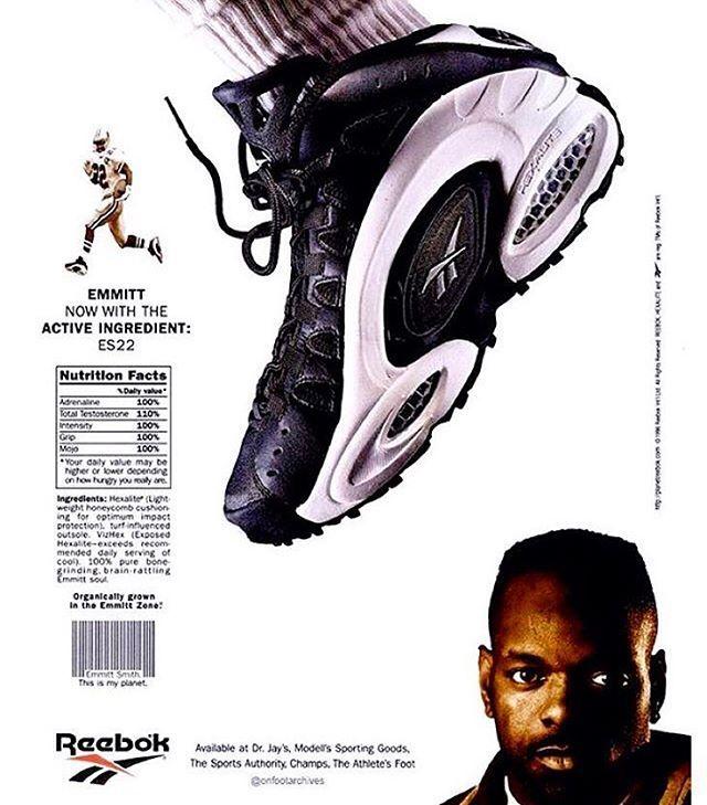 OG Reebok ES22 Ad. Emmitt Smith's signature football turf shoe #hexaliteheads #reebok #rbk #team1895 #reebokhoops #shsa #sakicks #vintagereebok #reebokbasketball #reebokshaq #igsneakercommunity #complexkicks #supreme #nicekicks #sneakernews #sneakerfreaker #modernnotoriety #reebokad #emmittsmith #reebokes22