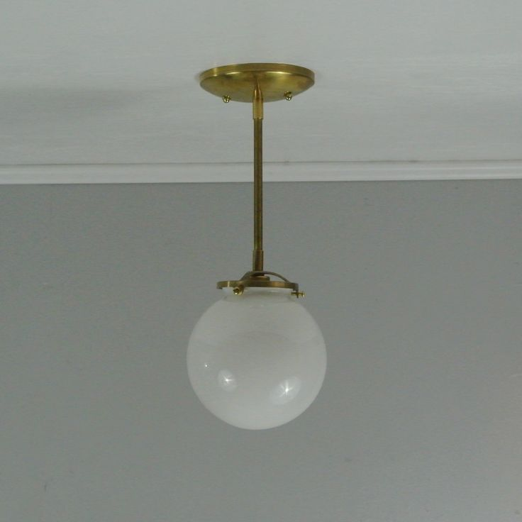 From pepe carols · petite glass globe pendant light