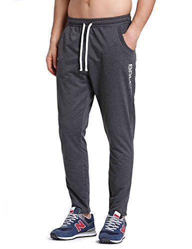 Baleaf Men's Tapered Athletic Running Pants Dark Gray Size S