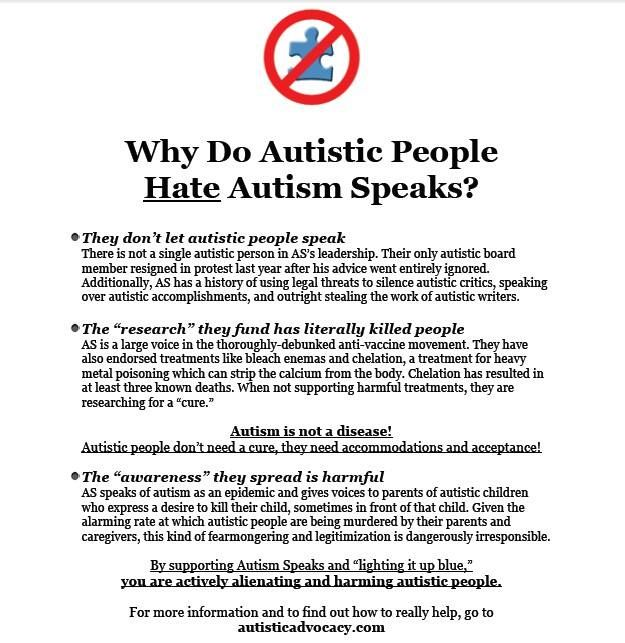 Why Do Autistic People *Hate* Autism Speaks?