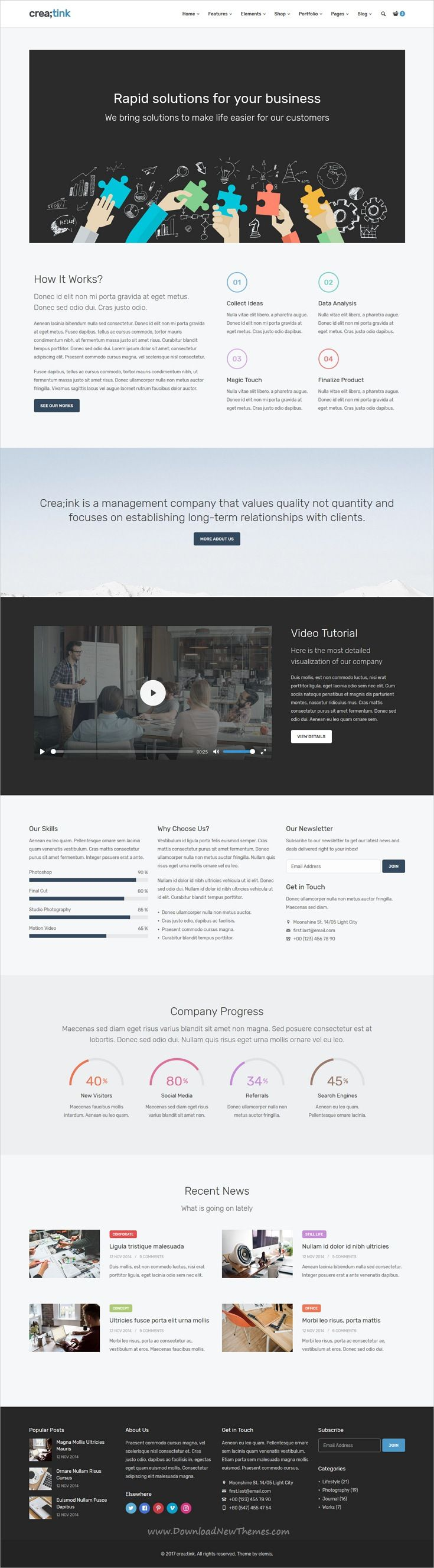 wedding invitation template themeforest%0A Creatink is clean  stylish and modern design responsive multipurpose   bootstrap template for creative