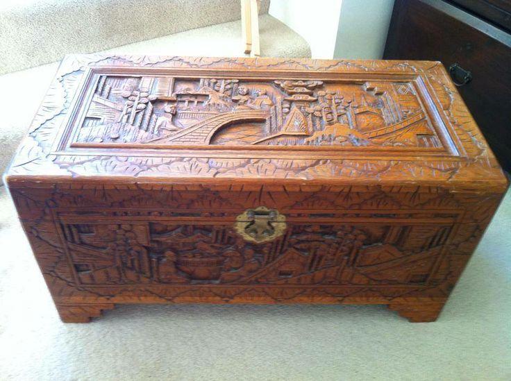 Wooden Blanket Box Glory Box Small 78cm Wide 38cm Deep