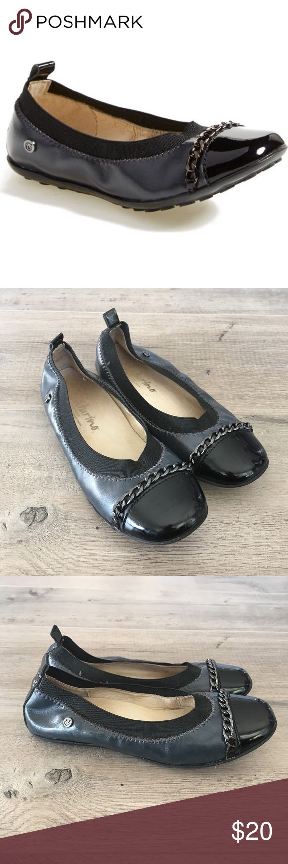 NATURINO ~ girls black ballet flats chain detail NATURINO ~   NATURINO brand  Kids shoes  Black ballet flats  Leather flats  Patent toe  Chain accent detail across toe  Size 29  Preowned like new condition  No box made in Serbia Naturino Shoes Dress Shoes