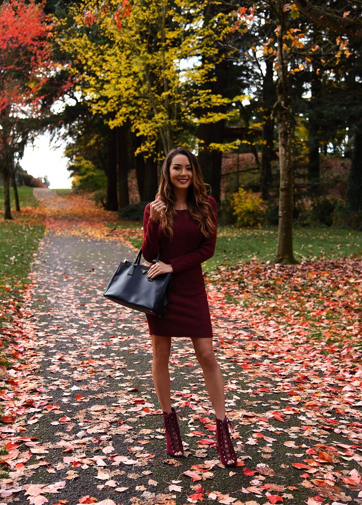 Jessica Ricks Charlotte Russe Dress and Lace Up Booties | Prada Bag (similar, budget-friendly bag here)