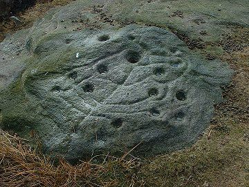 Tree Of Life Rock. Snowden Carr, North Yorkshire, UK