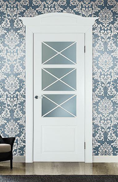 Межкомнатная дверь «Тулуза». Отделка «нежно-белая эмаль» #дверирулес #двери…
