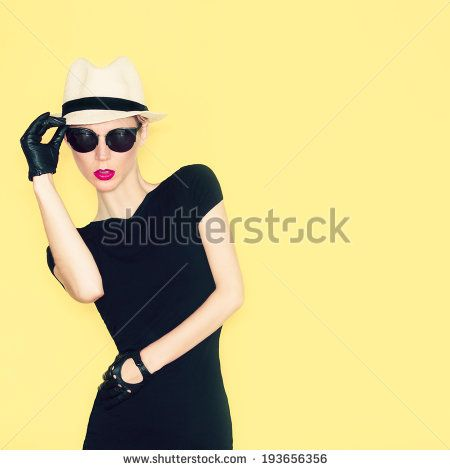 Glamorous fashion lady - stock photo
