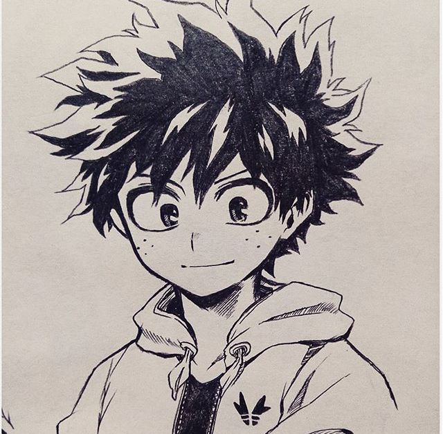 Boku No Hero Academia Midoriya Izuku Anime Drawings Sketches Anime Character Drawing Manga Art