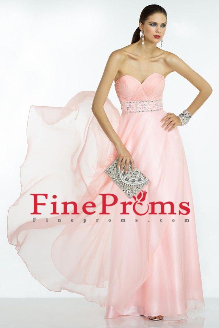 2016 Sweetheart Ruffled Bust Beaded Waistband Prom Dresses Chiffon Floor Length