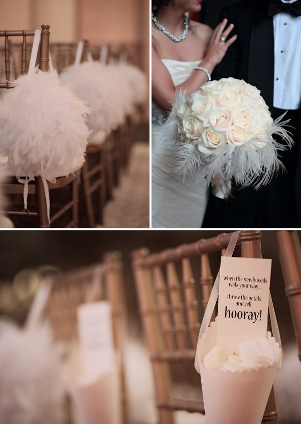 feathers in my wedding bouquet?!?!?!