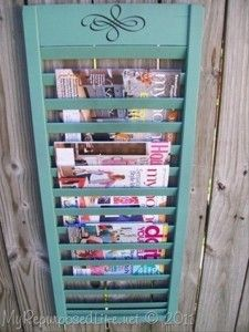 Great way to enjoy magazines without the pile up on the coffee table!