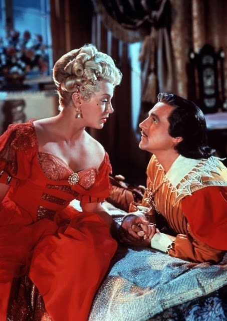 "Gene Kelly and Lana Turner in ""The Three Musketeers"" (1948)"
