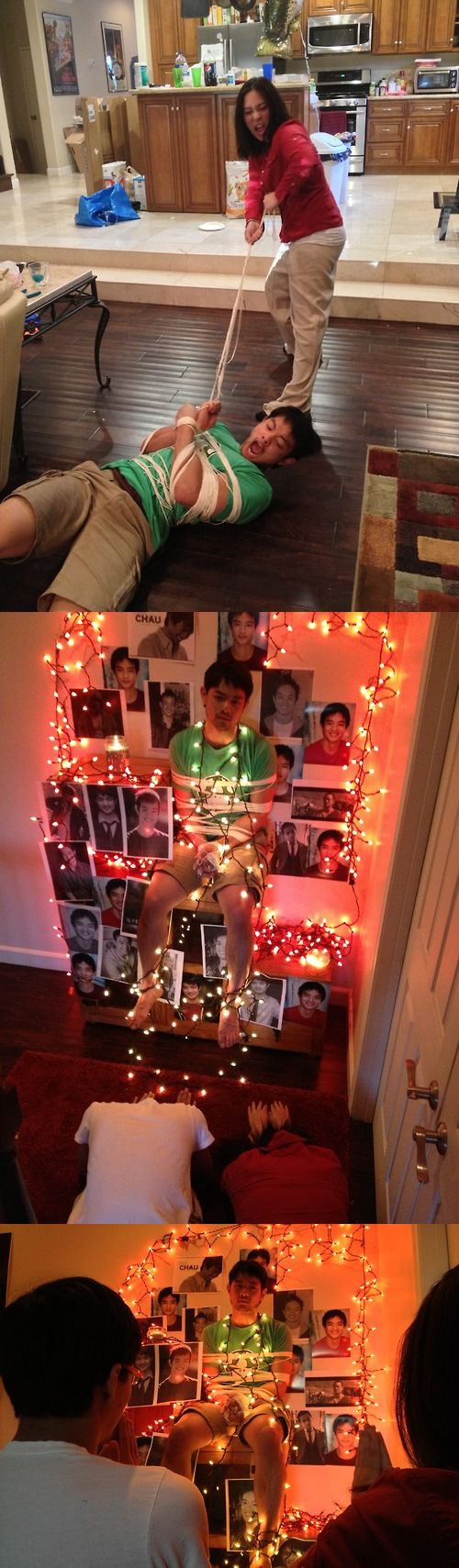 "GISHWHES 2013 | IMAGE - Create a shrine to an actor from a CW show. Pay homage to it. > avengingsassydestiel: We just made him into an actual shrine. He has the best ""FML"" face."