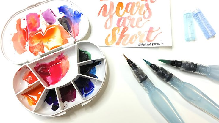 How to use the Pentel Aquash water brush pen for watercolor and brush le...