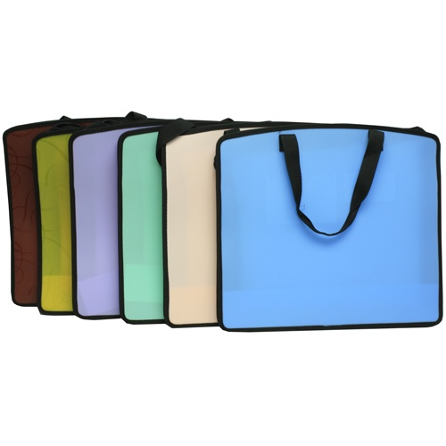 Art portfolio cases are professional, make it easy to travel with your work, and come in a choice of pretty colors $15