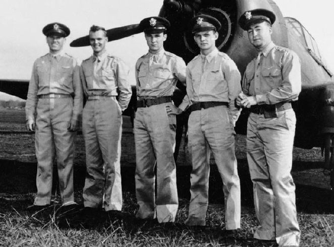 Five USAAF pilots were credited with shooting down nine Japanese aircraft over Hawaii on 7 December: First Lieutenant Lewis M. Sanders, Second Lieutenant Philip M. Rasmussen, Second Lieutenant Kenneth M. Taylor, Second Lieutenant George S.Welch, and Second Lieutenant Harry W. Brown. #PearlHarbor #History #BeInTheKnow
