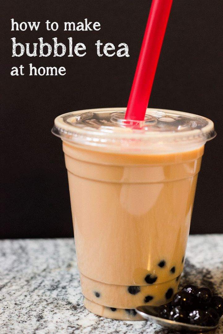 Ever heard of Bubble Tea? Neither had I. That's why I'm Pinning this recipe. It's loaded with sugar to not very healthful, but....How to Make Bubble Tea (Boba) at Home