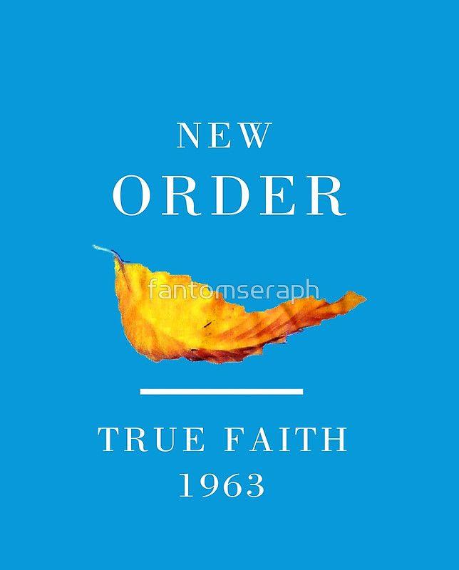 New Order Joy Division shirt True Faith