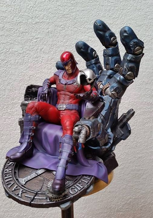 [XM Studios] - Magneto on Sentinel Throne - Modellismo