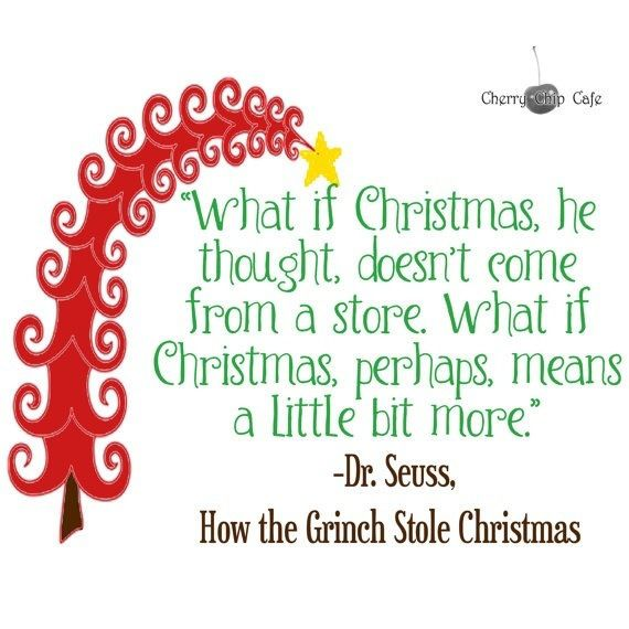 Christmas  picture quotes | Dr. Suess-How the Grinch Stole Christmas Quote… -Vinyl Wall Saying
