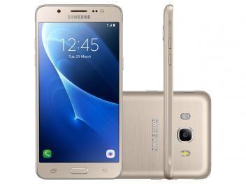 ===PROMOÇÃO===  de R$ 1.099,00 por R$ 829,90 OU em até 9x de R$ 92,21 sem juros no cartão de crédito ou R$ 771,81 à vista  Oferta por tempo limitado. Smartphone Samsung Galaxy J5 Metal 16GB Dourado - Dual Chip 4G Câm. 13MP + Selfie 5MP Desbl. Tim