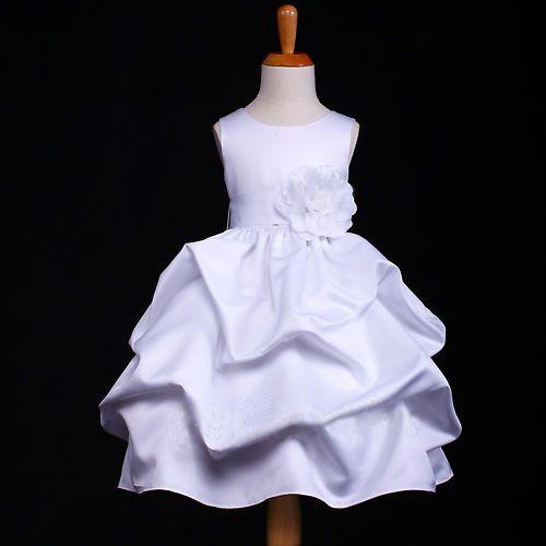 """Φορέματα για Παρανυφάκια - Επίσημα Φορέματα για Κορίτσια :: Αμάνικο Παιδικό σε ΛΕΥΚΟ Σατέν Φόρεμα με Συνοδευτικό Ζώνη, Λουλούδι & Πισινό Φιόγκο, """"Pandora"""" - ΝΥΦΙΚΑ ΑΞΕΣΟΥΑΡ - ΑΞΕΣΟΥΑΡ ΜΑΛΛΙΩΝ! Παραμυθένια νυφικά αξεσουάρ, αξεσουάρ μαλλιών, ιδανικά για νύφες, παρανυφάκια, γάμο, γιορτές, εκδηλώσεις... http://www.memoirs.gr/"""