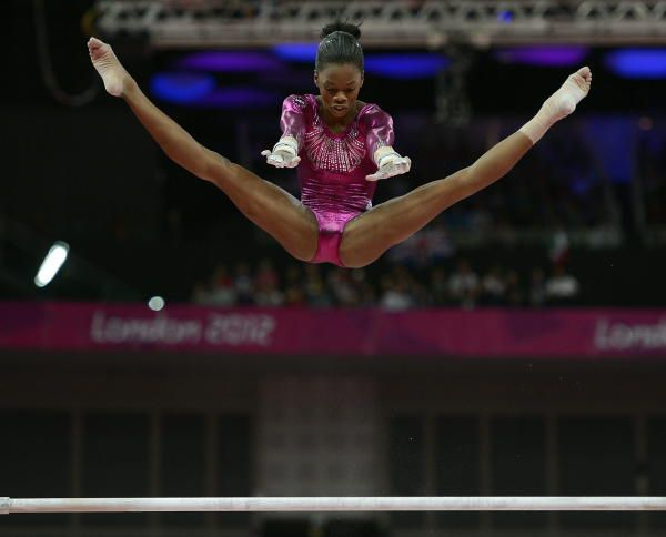 Gabby Douglas-look at her height!!