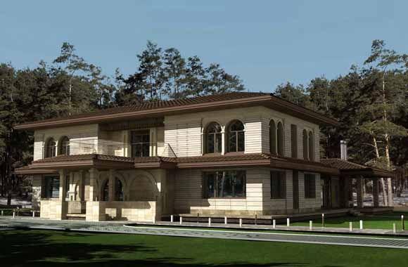 Архитектурный проект загородного дома. Architect Irina Richter. INSIDE-STUDIO Prague