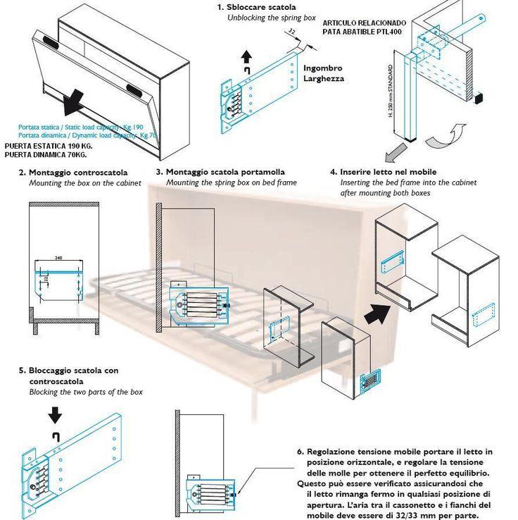 Mecanismo cama abatible mla 209 juego muebles - Sistema cama abatible ...