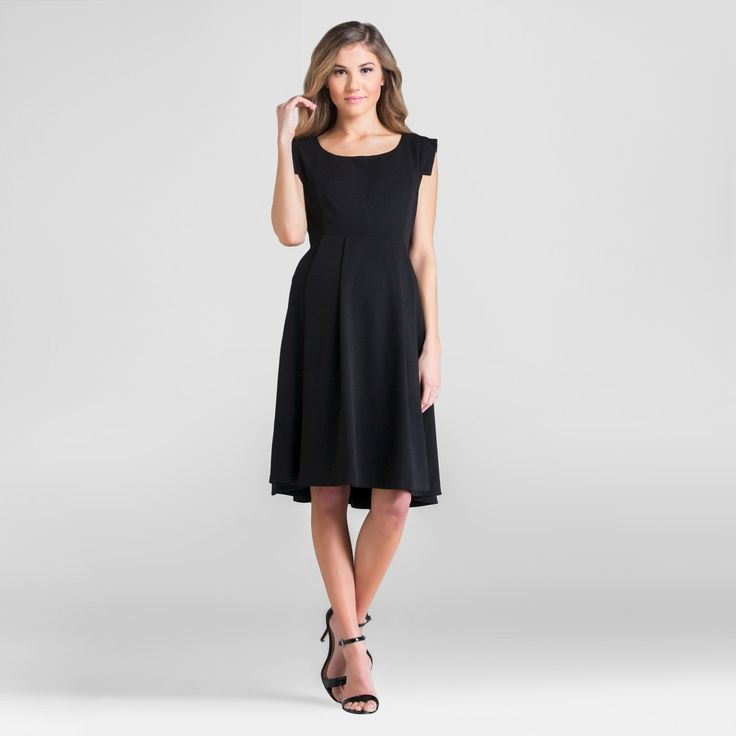 Maternity Scoop Neck Dress Black XL - Expected by Lilac, Women's